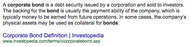 Definition of Corporate Bond
